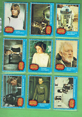 #t76    1977  Star Wars Cards, Missing Six Cards