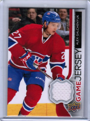 14/15 UPPER DECK SERIES 1 HOCKEY UD GAME JERSEY CARDS (GJ-XX) U-Pick From List