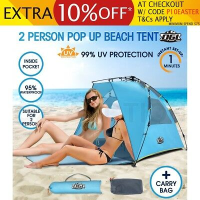 OGL 2 Person Hiking Camping Easy Up Outdoor Waterproof Beach Tent w/Carry Bag