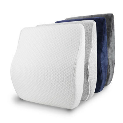 Memory Foam Lumbar Cushion Back Support Pillow with Removable Pillow Case Office