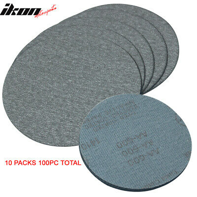 100PC 5Inch 127mm 600 Grit Auto Sanding Disc No Hole Sandpaper Sheets Sand Paper