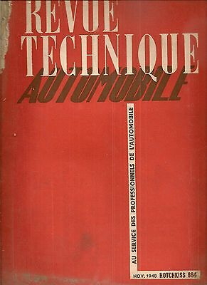 Revue Technique Automobile 31 Rta 1948 Hotchkiss 13Cv Hotchkiss 864