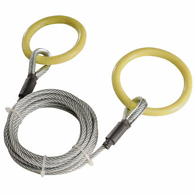 Timber Tuff TMW-38 ATV and UTV Heavy Duty Log Lumber Choker Cable with Tow Rings