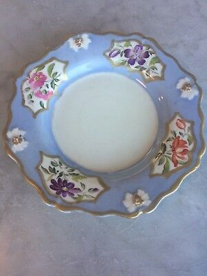 Antique Ridgway Pretty Ironstone Plate Lilac Floral Pattern Plate With Gold Gilt