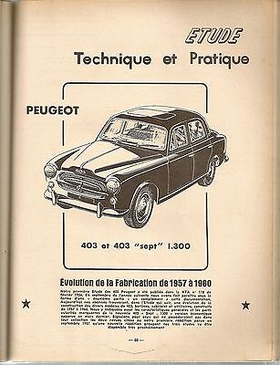 Revue Technique Automobile 170 Rta 1960 Peugeot 403 1957 1958 1959 1960 403 Sept