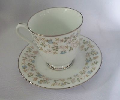 Set Of 7 Sets Contemporary Noritake Japan Fine China Brenda 2730 Cup And Saucer