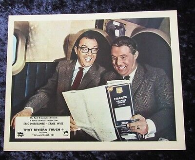 THAT RIVIERA TOUCH lobby card #1 ERIC MORECAMBE, ERNIE WISE mini uk card
