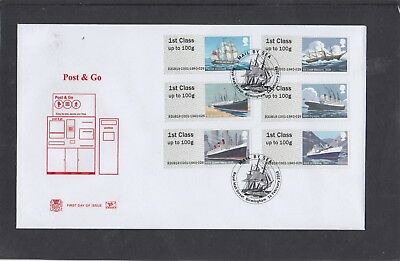 GB 2018 Post & Go Mail by Sea Stuart FDC Royal Mail St Birmingham pictorial pk