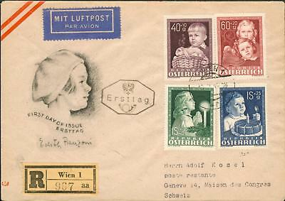 Austria Michel Nr. 929-932 on FDC from 13.4.1949 hz67