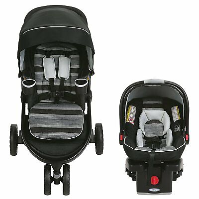 Graco Modes 3 Lite Travel System Stroller + Snugride 35 Car Seat,  Banner New!