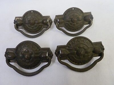 4 Antique Ornate Victorian Drawer Pulls Handles Dresser Eastlake Center Screw