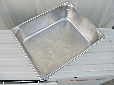 Lot of 2 - EUC Commercial USA VOLLRATH 30242 STAINLESS STEEL 1/2 Size SUPER PAN