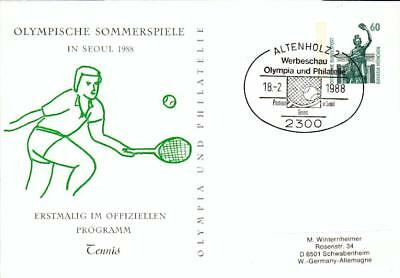 Germany special PS card Tennis Seoul 1988 GA-Karte ek46