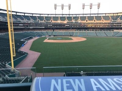 Detroit Tigers Tickets Section 133 4th Row over Tiger dugout Any Game READ