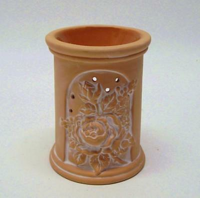 Terra Cotta Flowers Fragrance Lamp Oil Candle (#188)