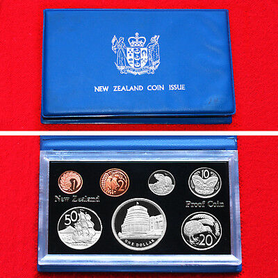 1978 New Zealand 7 Coin Proof Set + .925 Silver 1 Dollar Royal Visit Proof Coin