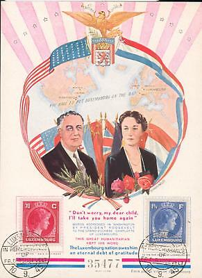 Luxembourg special sheet 1945 Roosevelt Luxemburg ev72