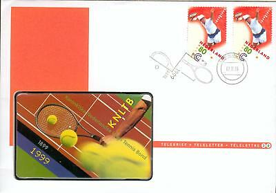 Netherlands phone card cover Tennis Telefonkarte fw16-2