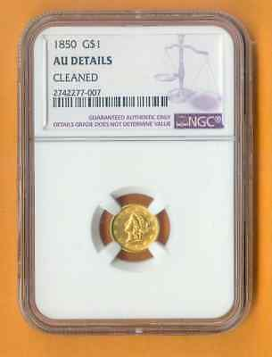 Ngc 1850 Gold $1 Au Details Cleaned