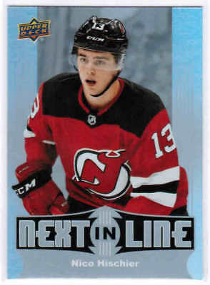 17/18 UD OVERTIME HOCKEY WAVE 2 NEXT IN LINE INSERT CARDS NL-XX U-Pick From List
