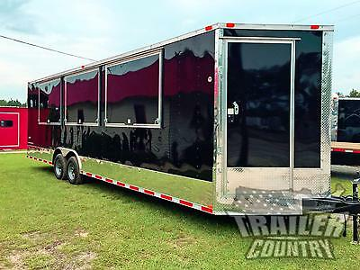 New 8.5 X 28 28' V- Nosed Enclosed Vending / Concession Trailer 10K Axles