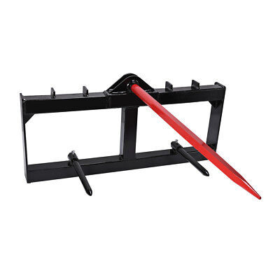 "11X 49"" Tractor Hay Spear Attachment 3,000 lb Spike Skid Steer Quick Tach Bobcat"