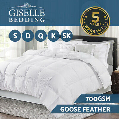 Goose Down Feather Quilt 700GSM Blanket Duvet Doona Cotton Winter All Sizes