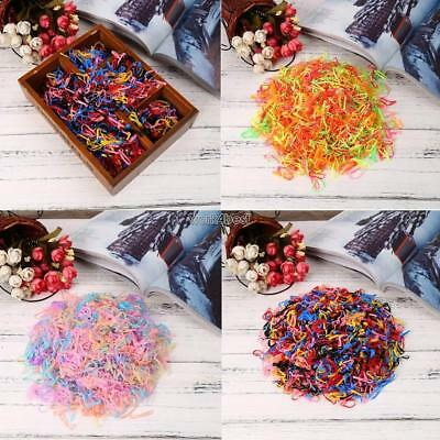 2000PCS Disposable Kids Hair Elastic Colorful Braided Styling Hair Tie/