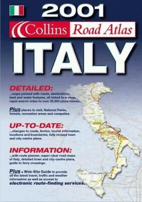 2001 Collins Road Atlas Italy Paperback Book The Cheap Fast Free Post