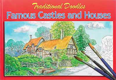 Castles & Houses Colouring Painting Sketch Book Older Children & Adults 3070