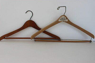 Vintage 2 Miami Beach FL Wooden Hangers The Sea Isle & The Great Train Robbery