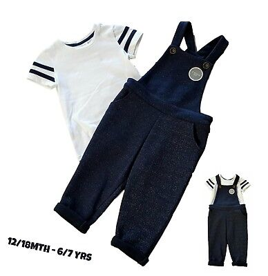 Baby Girls Outfit Set Dungaree Top Tshirt Vest EX STORE Pinafore 12/18Mt - 6-7Yr