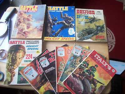 3 Battle Picture & Battler Britton Holiday Special 1969 Comic Book Reading Copy