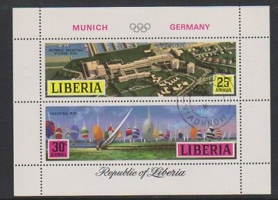 Liberia - 1971, Munich Olympic Games sheet - CTO - SG MS1073