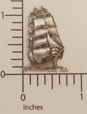 46164       Matte Silver Oxidized VictorianTall Ship Jewelry Finding