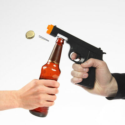 Big Mouth Toys Locked & Loaded Gun Shaped Bottle Opener For Beer Novelty Gift