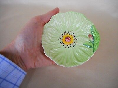 A Carlton Ware Green  Poppy Dish ~ Australian Patterned Item - Lovely Condition