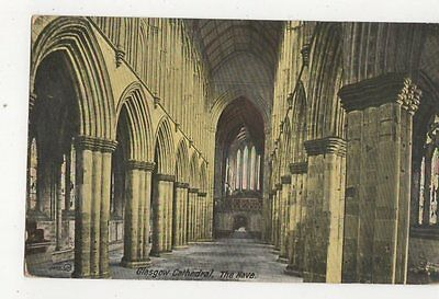 Glasgow Cathedral Nave 1913 Postcard 192a