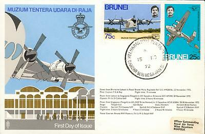 Brunei Michel Nr. 178-179 on FDC airplane Flugzeug hk54