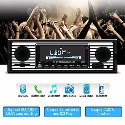 Bluetooth Car Stereo Autoradio 1DIN Player In-Dash FM MP3 Radio Player AUX-IN SD