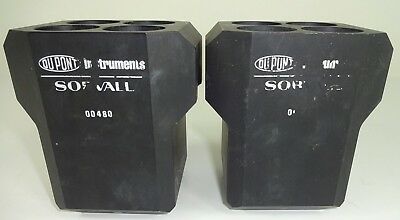 (2) USED Dupont Buckets/Cups for Sorvall HS-4 Centrifuge Rotor - 00480 BLACK