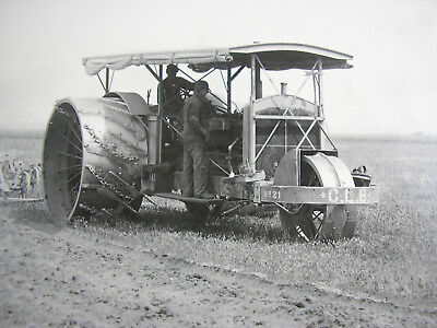 C L BEST #21 TRACTION PLOW in FIELD - Delano, CA 1912 Mounted Tibbitts Print