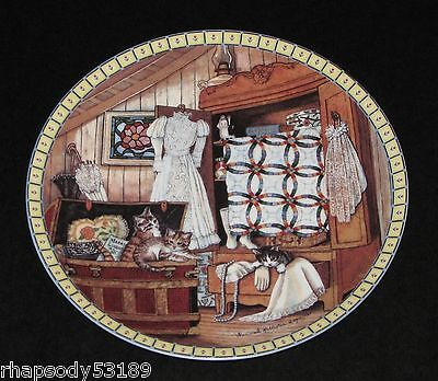 Hannah Hollister Ingmire Attic Afternoon - Cozy Country Corners Plate 1991 Cats