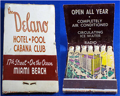 Matchbook The Delano Hotell Miami Beach  Lion 21 Feature PICTURE Matches UNUSED