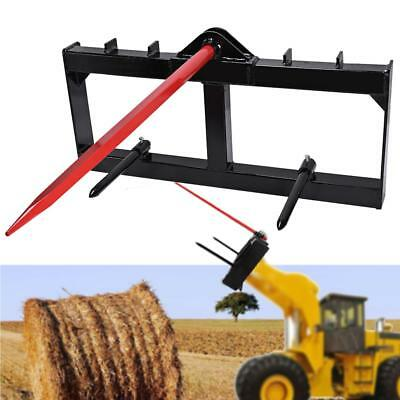 """49"""" Tractor Hay Spear Attachment 3000 lb Spike Universal Skid Steer Style Hookup"""
