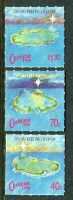 1990 Cocos Island Christmas - MUH Complete Set of 3 Stamps