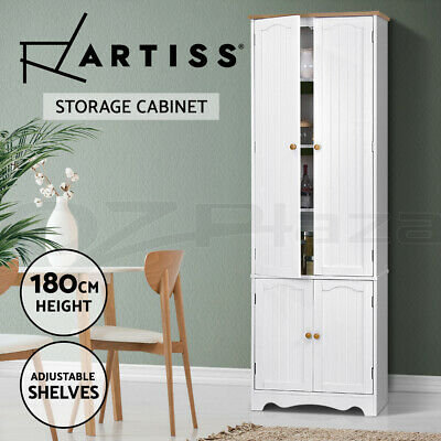 Artiss 6-Tier Kitchen Pantry Cupboard Cabinet Wooden Wardrobe Storage Shelves