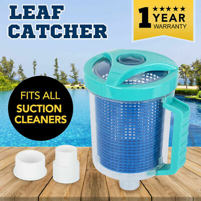 Leaf Catcher Canister Suction Vacuum Above Below Ground Swimming Pool Cleaner