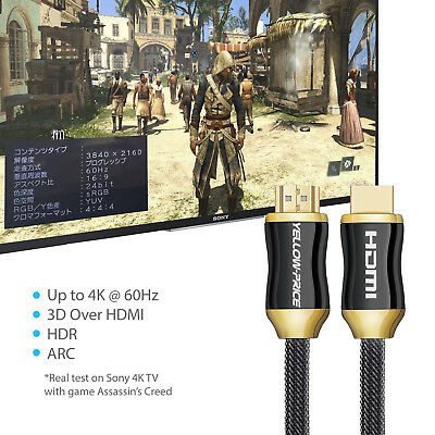 3ft 6ft 10ft 15ft 25ft 30ft 50ft 4K UHD HDMI Cable v2.0 3D HighSpeed + Ethernet