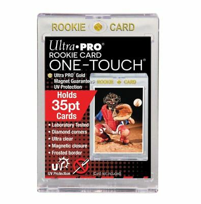 "(5-Pack) Ultra Pro One Touch Magnetic Trading Card Holder ""ROOKIE"" 35pt w/ UV"